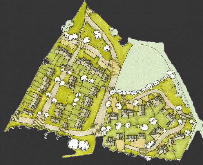 Site plan-Option 1 close up