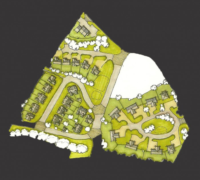 Site plan-Option 2 close up