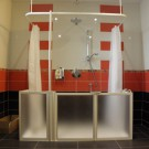 Shower for assisted care or wheel chair user